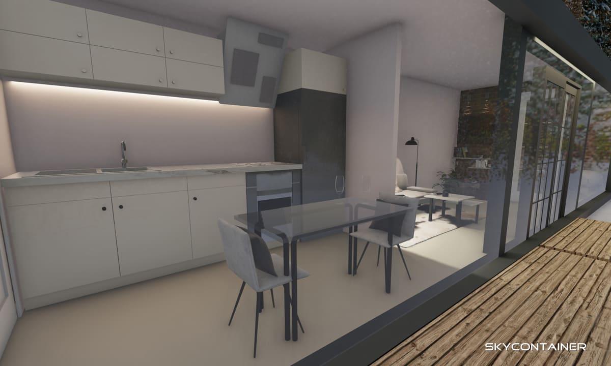 Küche und Kücheneinrichtung für Container-Haus: Der einfachste Weg zum Tiny House?